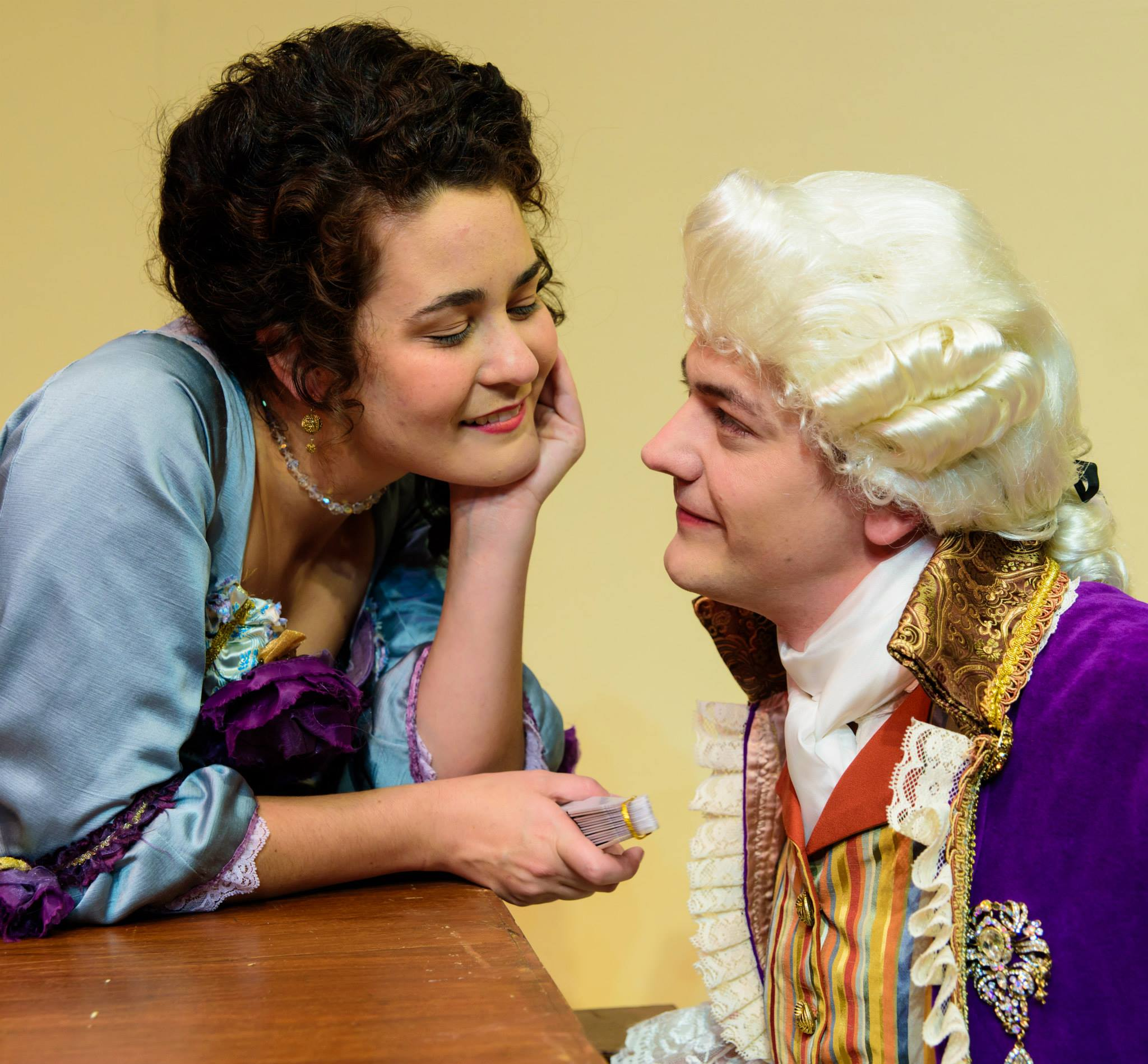 Production photo of Mozart and Constanze