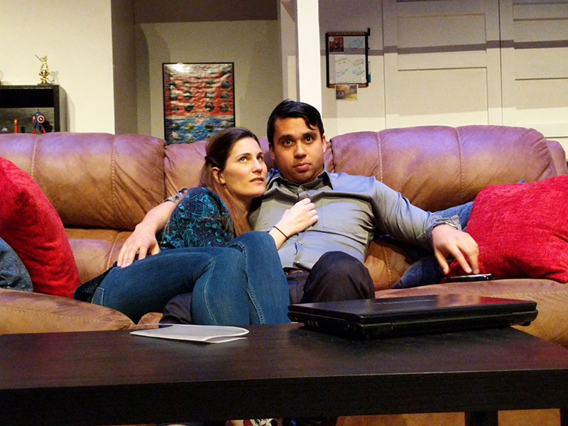 Andrea Peterson and John Valdez in STRAIGHT photo by JayC Stoddard