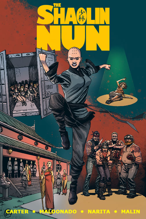 The Shaolin Nun by JC Carter and Gregory Maldonado, with Colors by Lala Narita and Letters by Andrew Malin